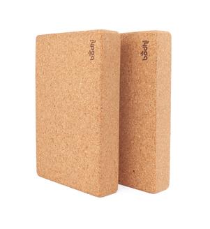 Dva korkové jóga bloky