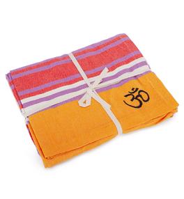 SHAVASANA bavlněná jóga deka - barevná